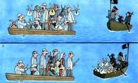 Пока в разных лодках…