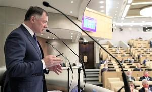 Марат Хуснуллин на пленарном заседании Госдумы