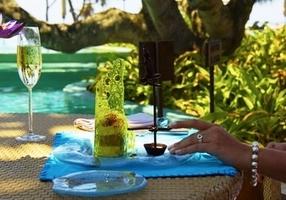 Десерт «Рыбак на ходулях»