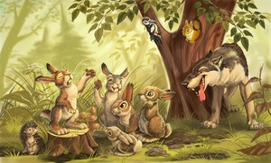 Приходили зайцы с волком дружить