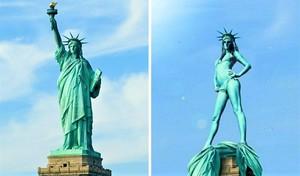 Жарко будет и статуе Свободы