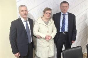 Сергей Афанасьев  и Пётр Котенков вместе с Галиной Ивановной