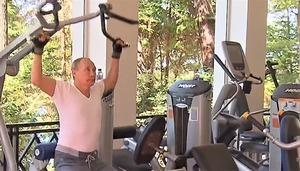 Владимир Путин на тренировке