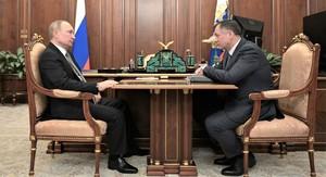 Владимир Путин и Марат Хуснуллин